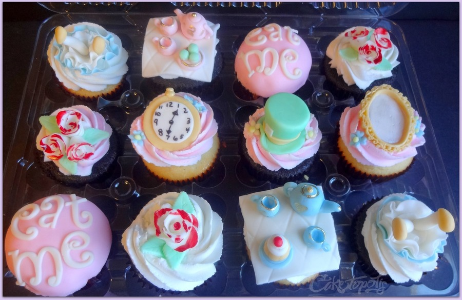 Alice In Wonderland Baby Shower Cupcakes Cakecentral