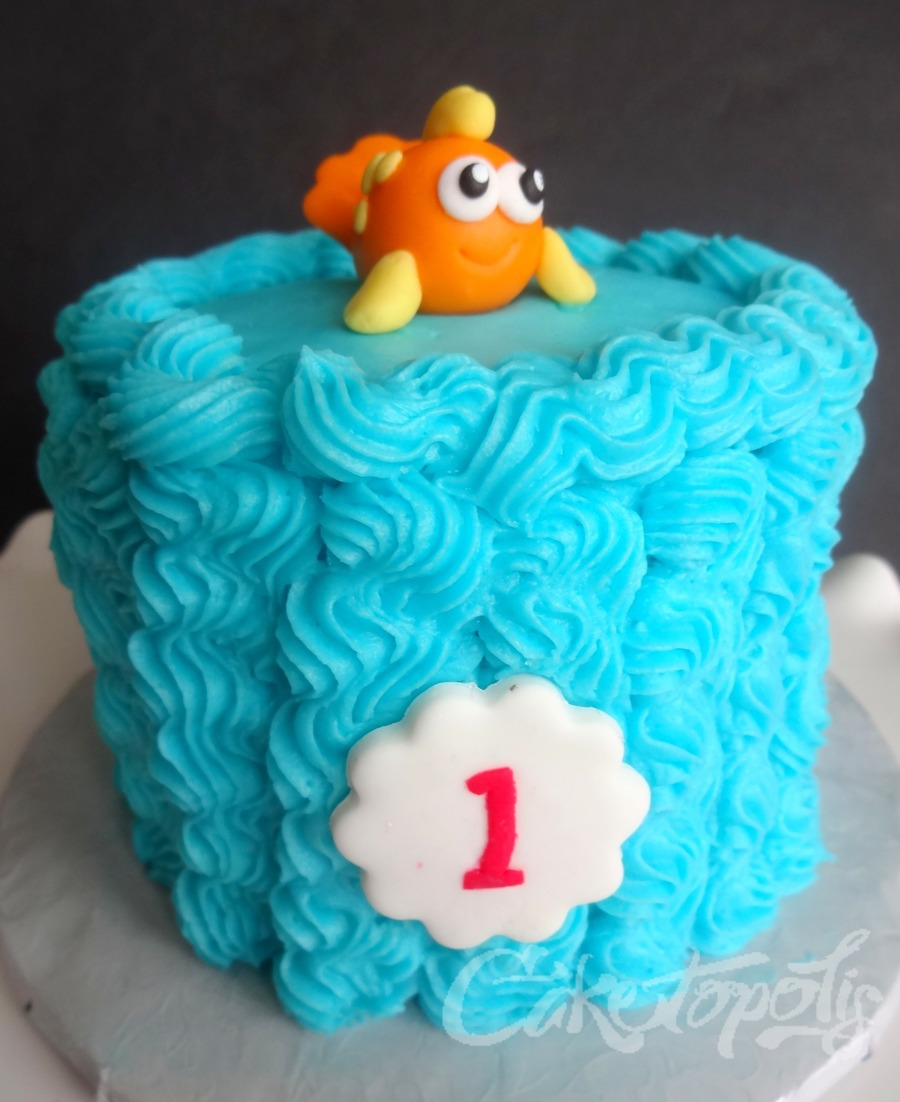 First Birthday Fish Smash Cake on Cake Central