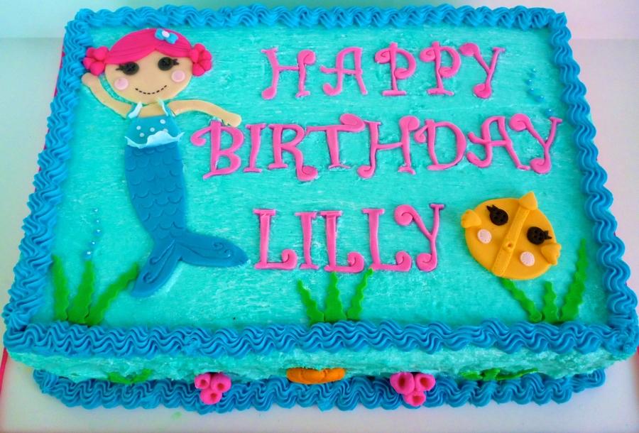Lalaloopsy Mermaid Cake Cakecentral Com