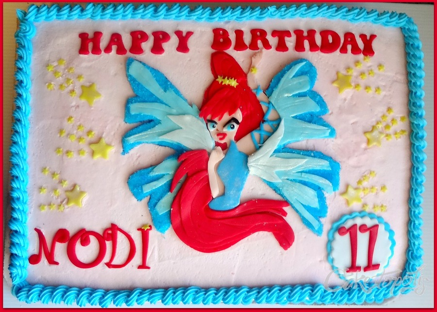 Bloom Winx Fairy Sheet Cake CakeCentralcom