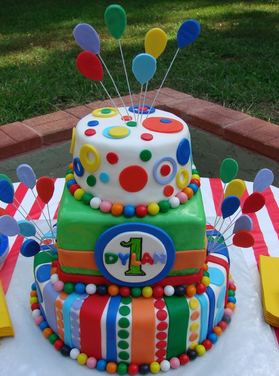 Carnival Birthday Cake on Cake Central