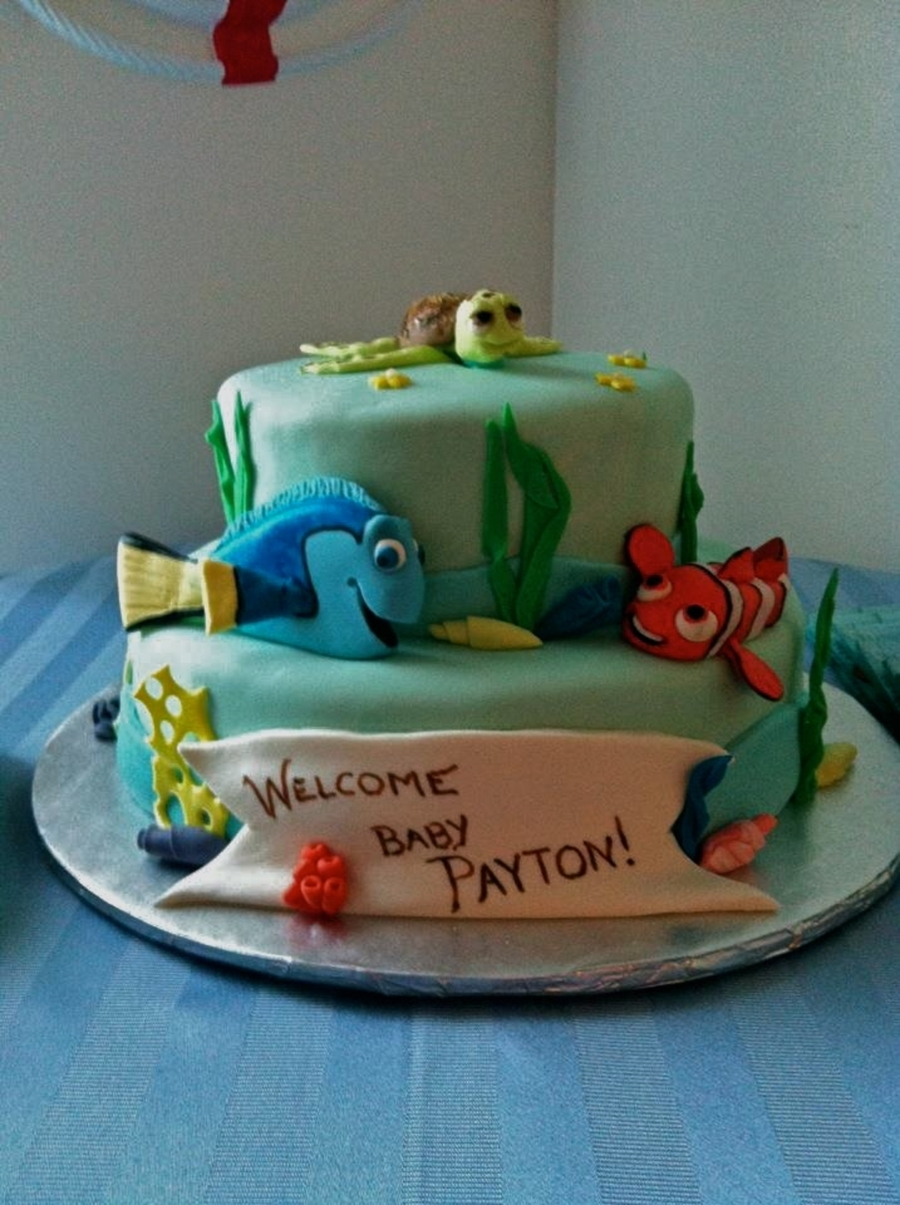 Nemo Baby Shower Cake on Cake Central