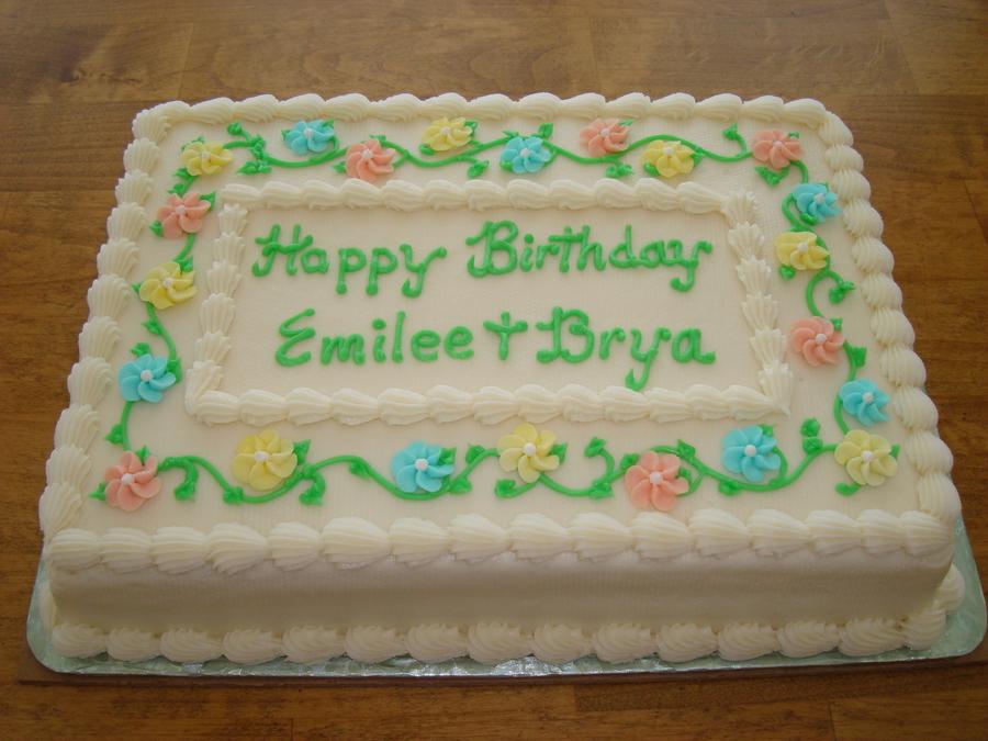 Happy Birthday Emilee Amp Brya Cakecentral Com