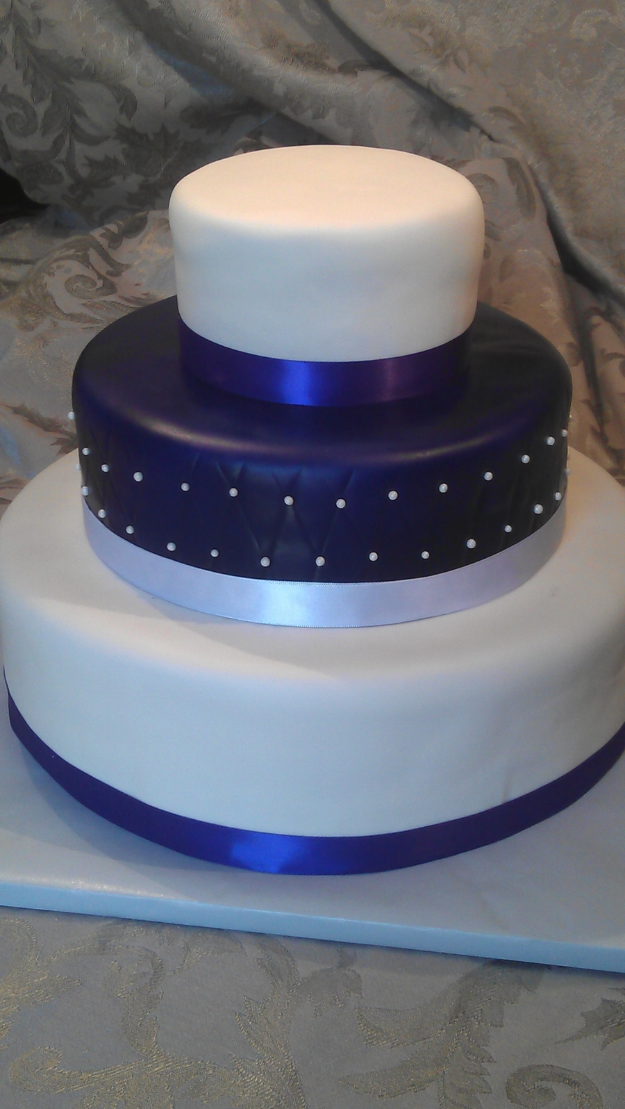 Purple Wedding on Cake Central