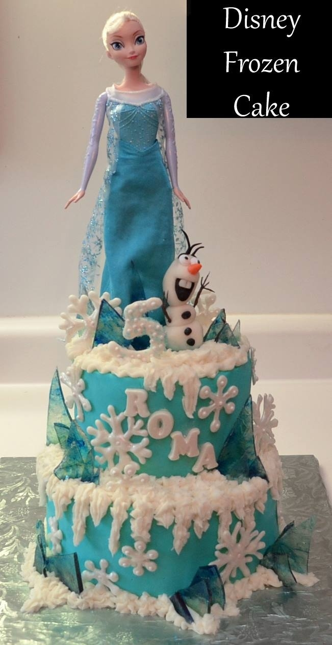 "and 10"" stacked cakes, white chocolate snow flakes and peppermint ..."