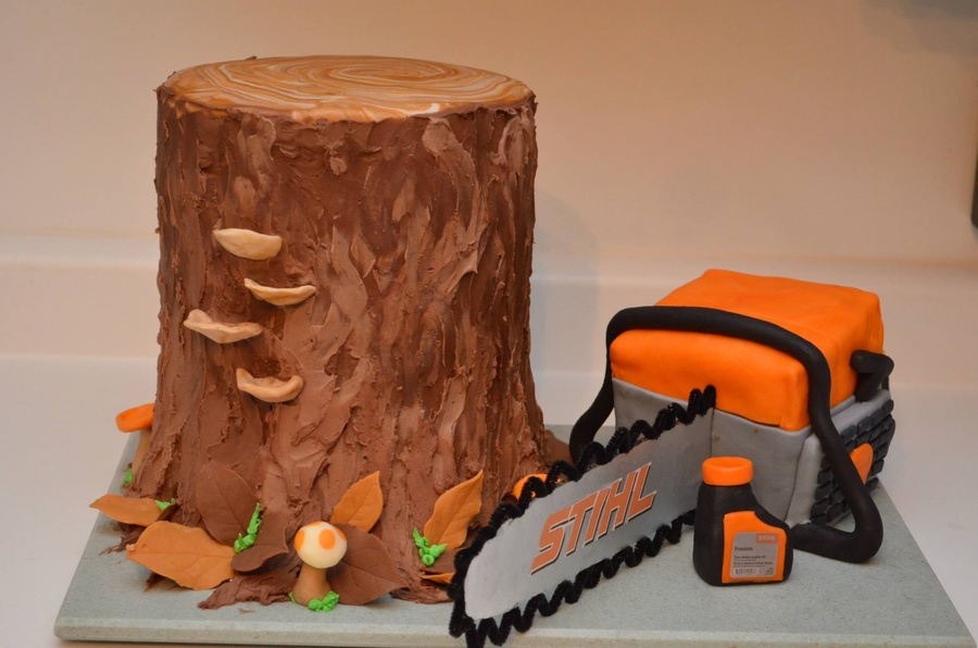 Tree And Chainsaw Cake Cakecentral Com