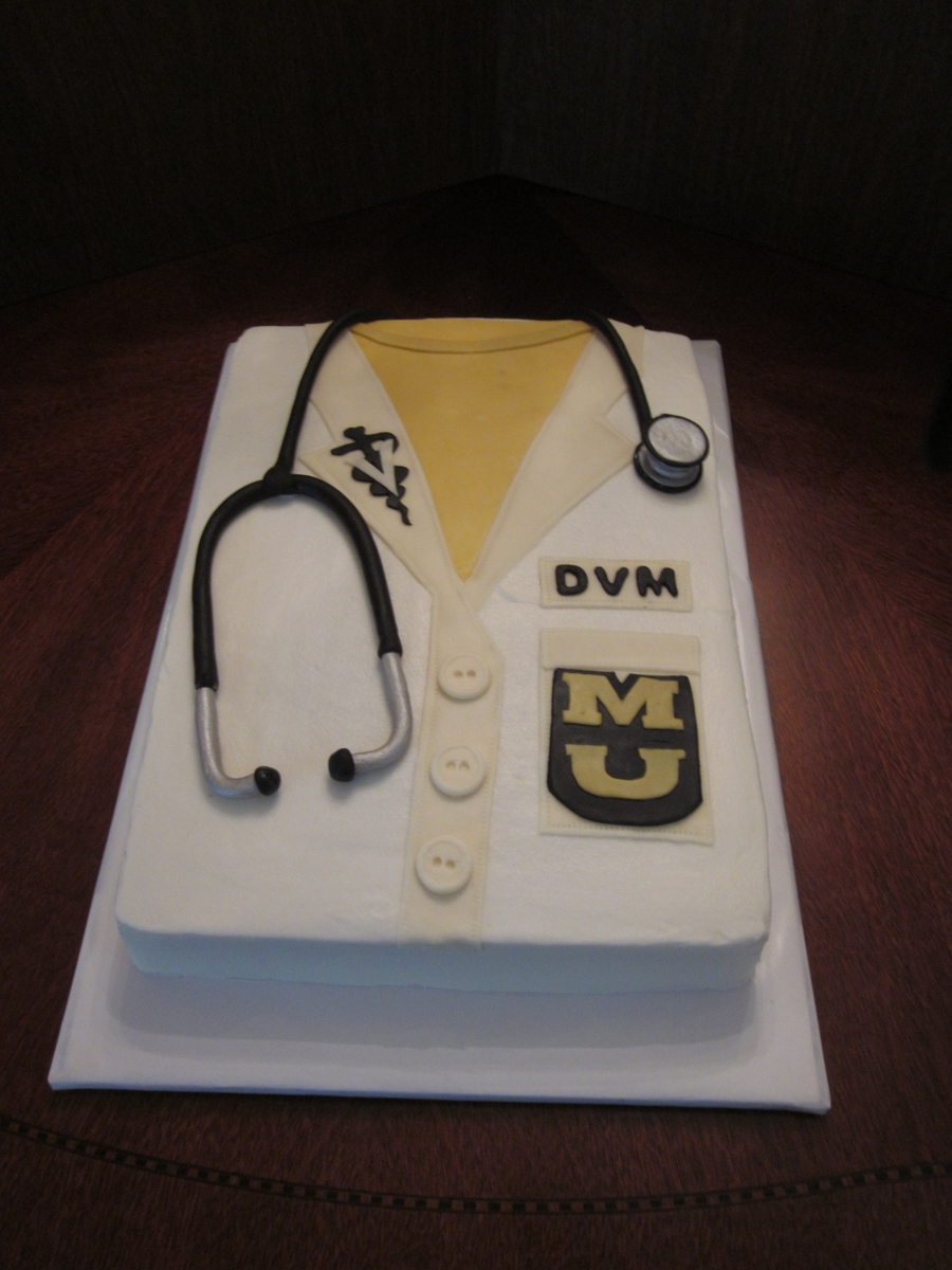 White Coat Ceremony Cake