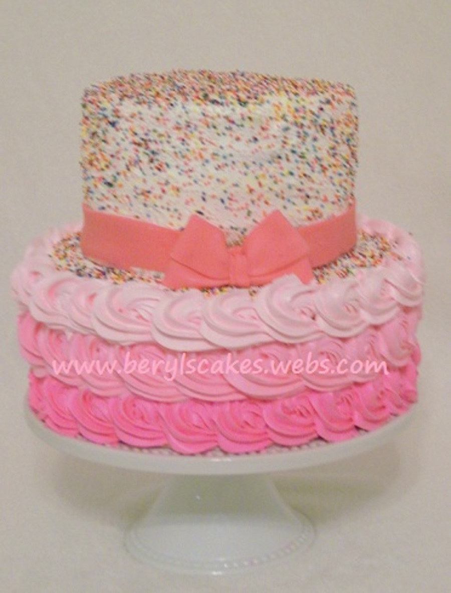 Sprinkles Rose Ombre  on Cake Central