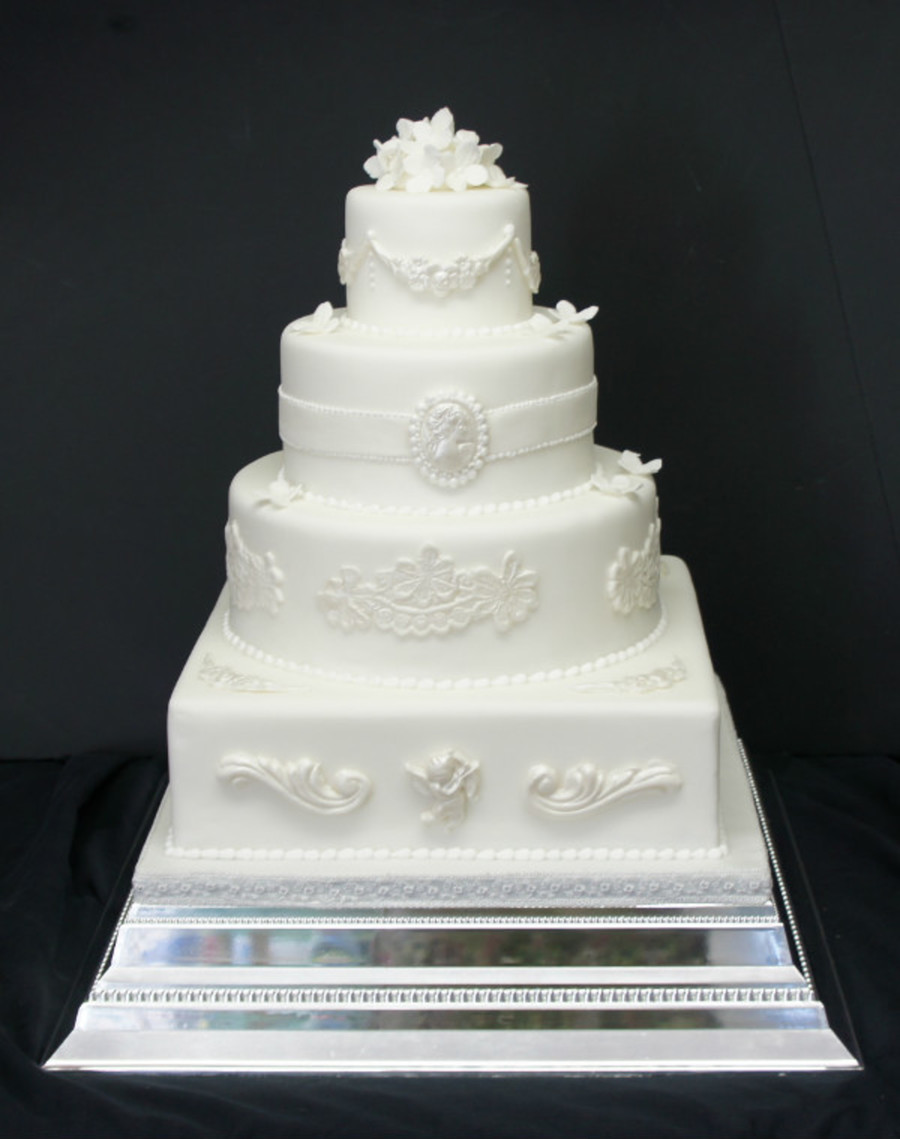 Baroque Style Wedding Cake on Cake Central