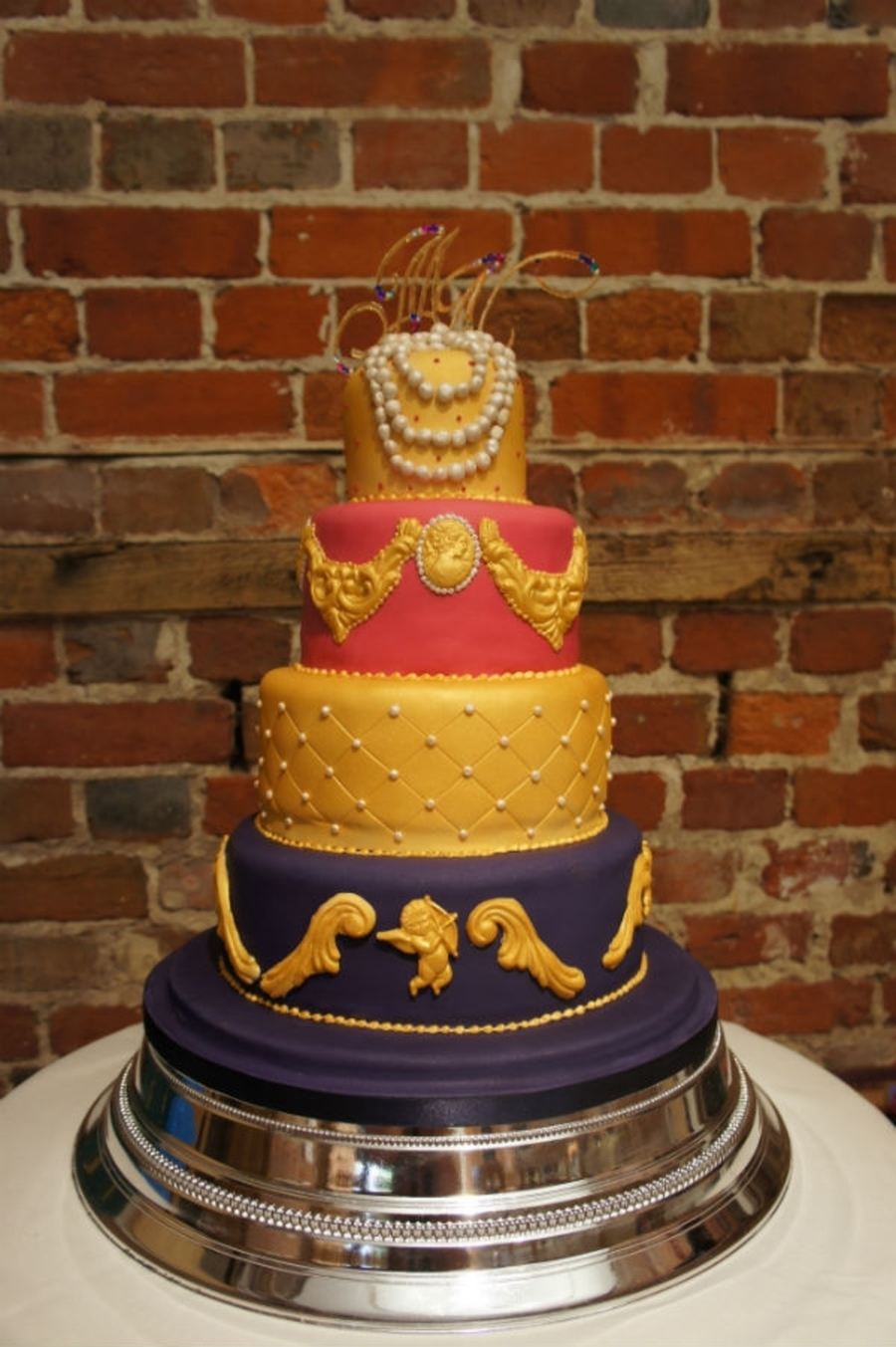 Baroque Wedding Cake on Cake Central