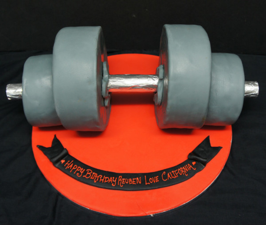 Weight Lifter's Cake on Cake Central