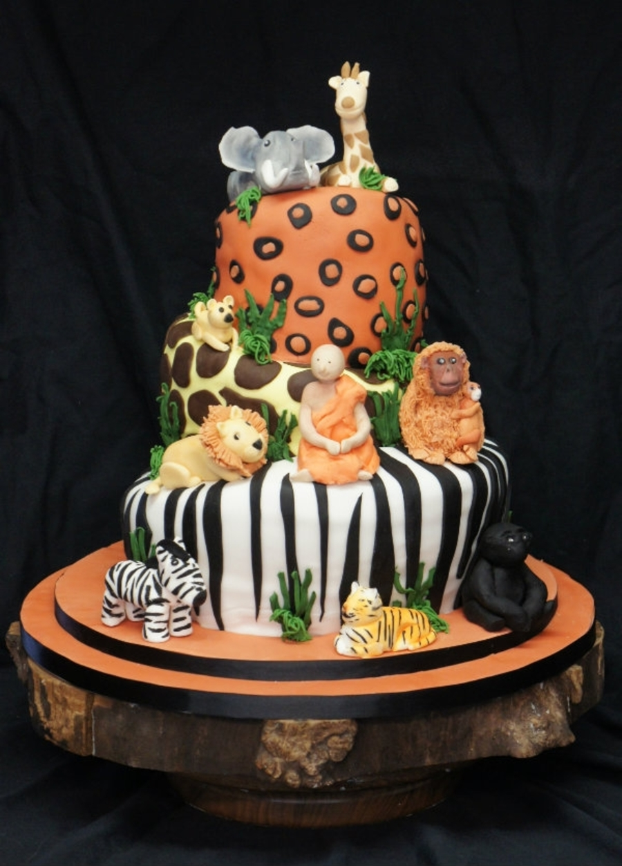 Jungle Wedding Cake!!  on Cake Central