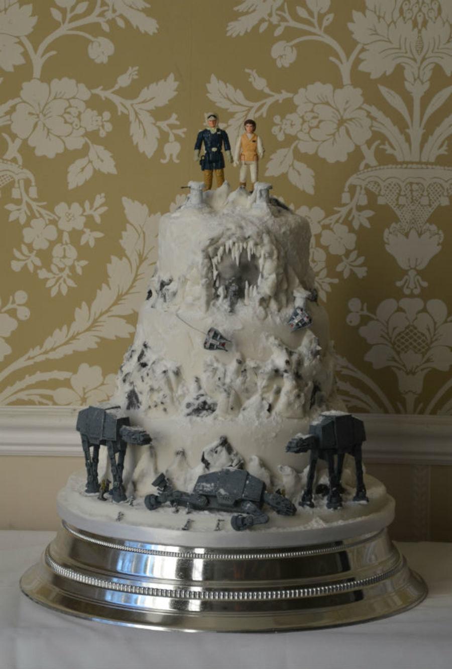 star wars wedding cake wars wedding cake cakecentral 7677