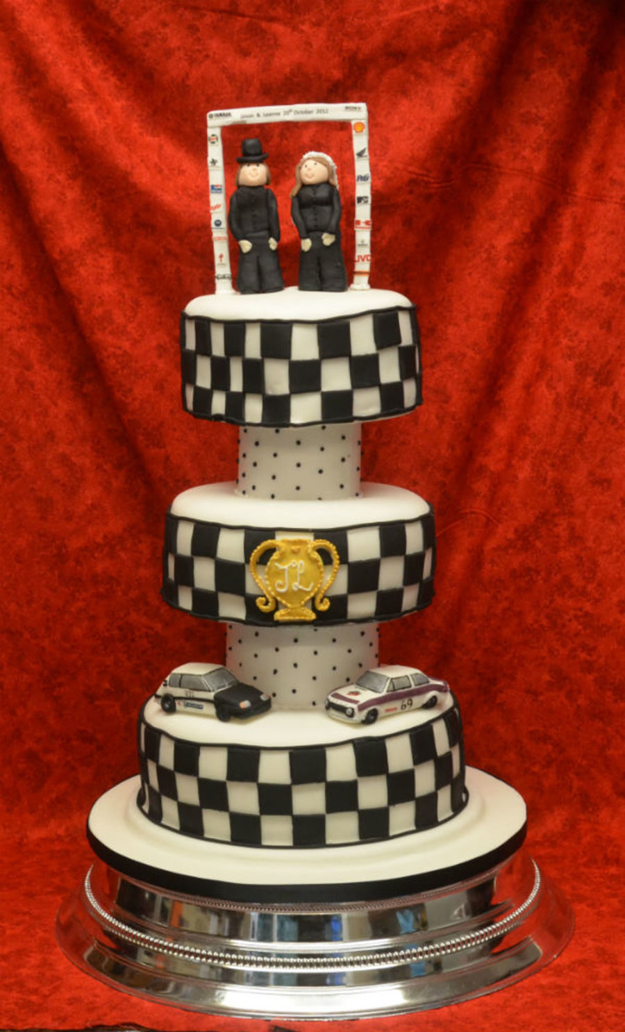 Rally Drivers Wedding Cake  on Cake Central