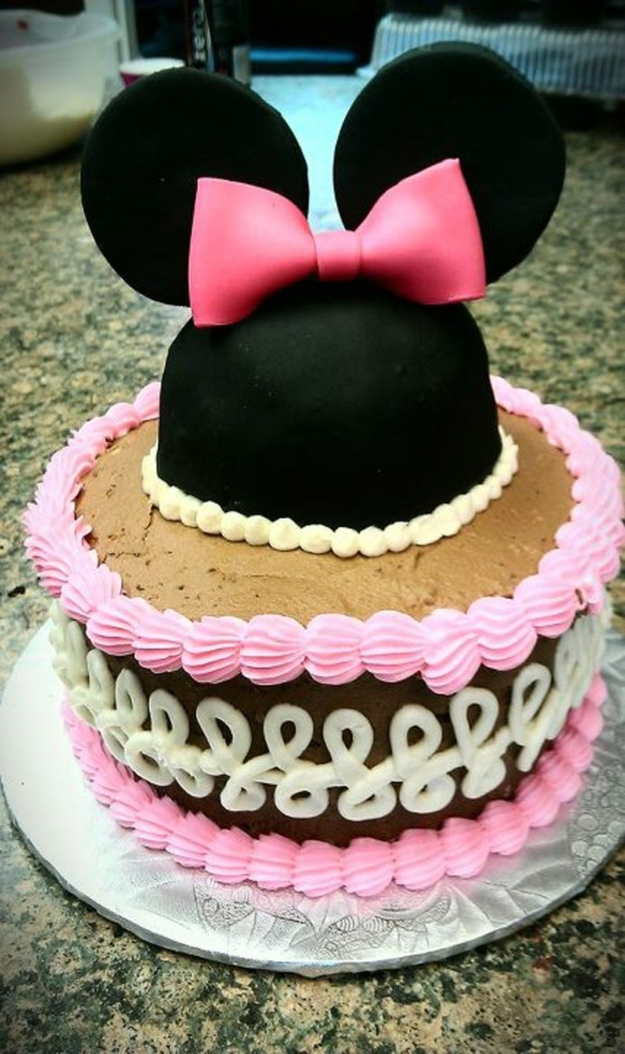 Minnie Mouse Ears And Bow Cake on Cake Central