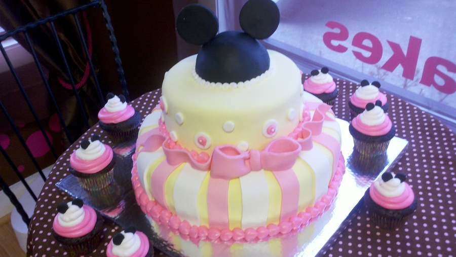 Mickey Mouse Cake And Cupcakes For 1 Year Old On Central