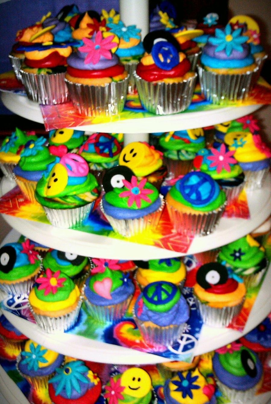 60's Hippie Cupcakes on Cake Central