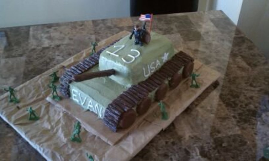 Tank Cake For My Nephew Evan on Cake Central
