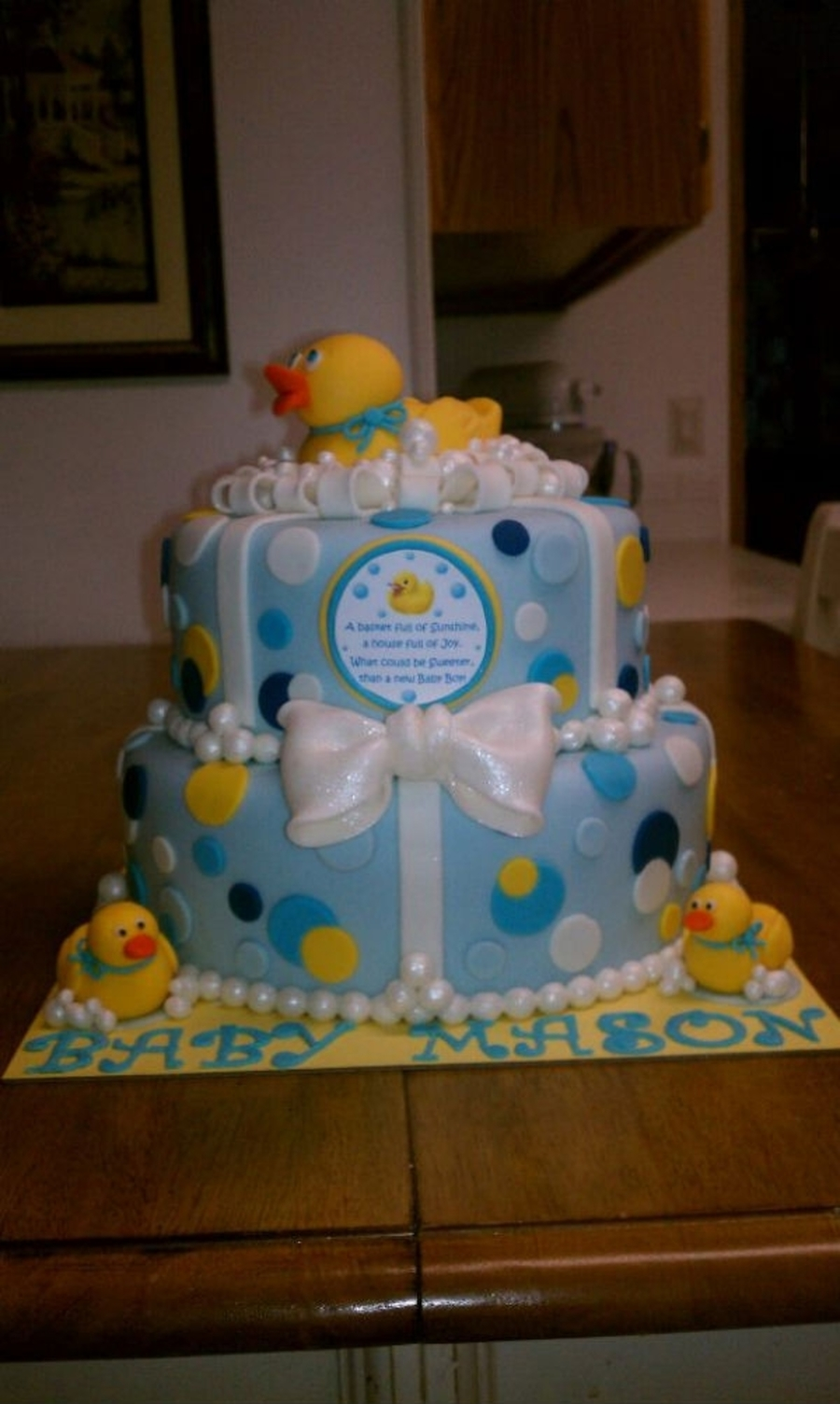 duck baby shower cake rubber duckie baby shower cake cakecentral 3761