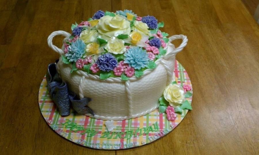 Flower Basket Birthday Cake Cakecentral Com