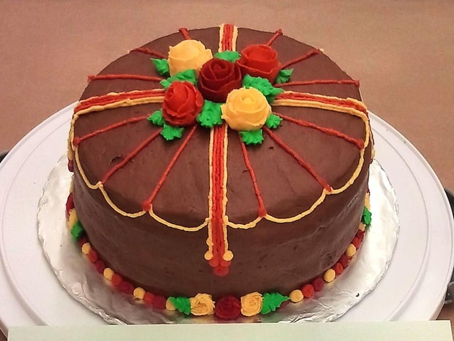 Wilton Course 1 - Final Cake - CakeCentral.com