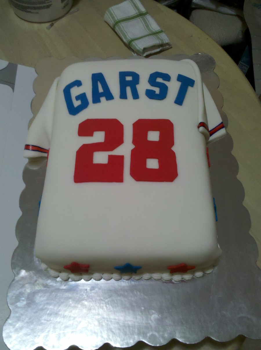 Braves Fan Birthday Baseball Jersey Cakecentral Com