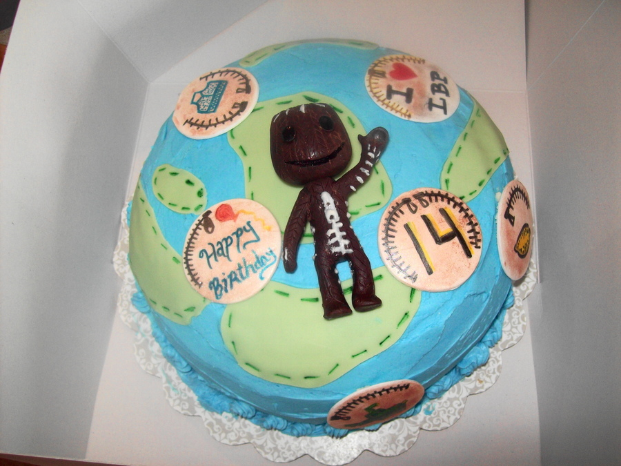 Little Big Planet And Sack Boy on Cake Central