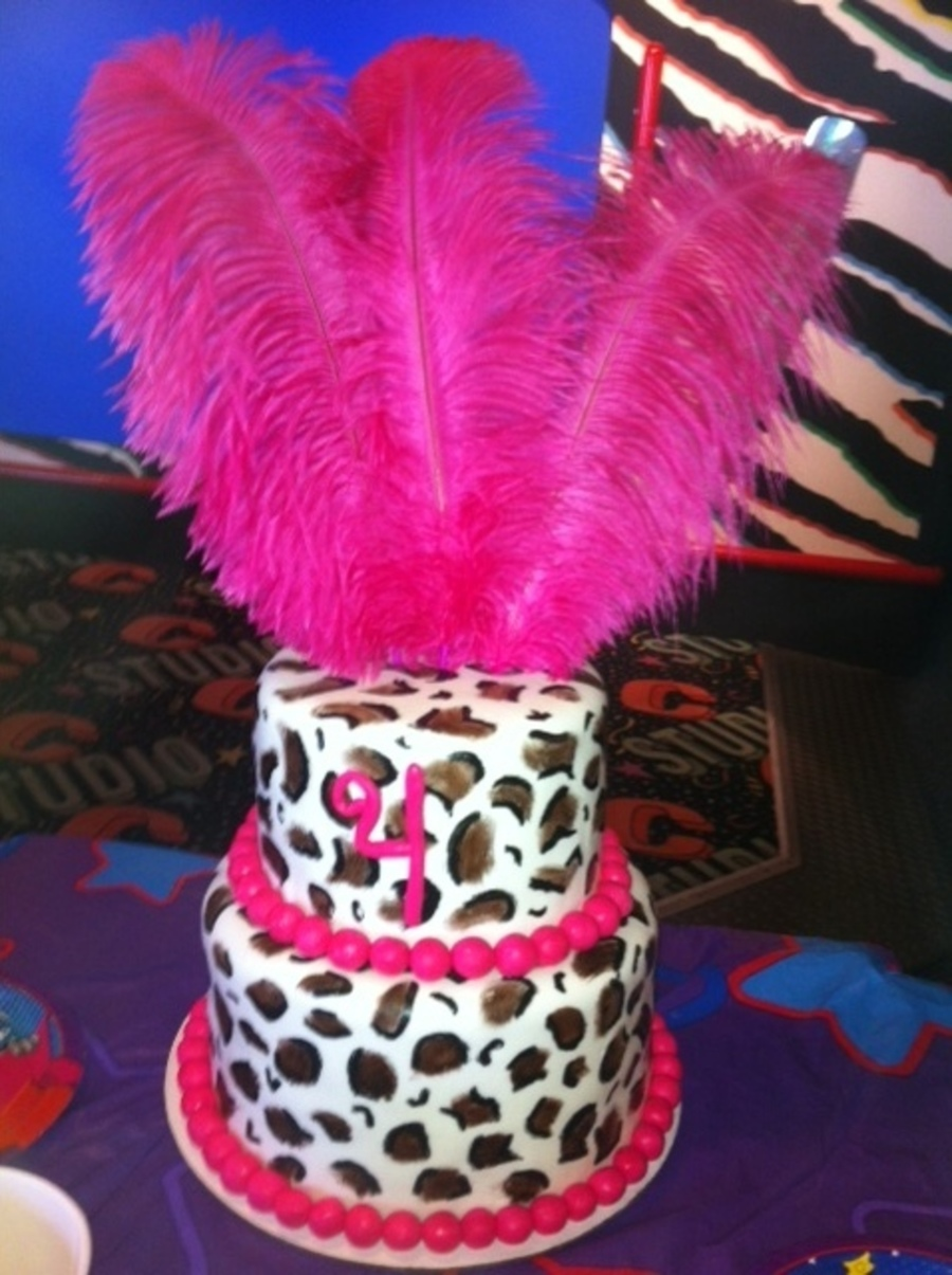Leopard Print Birthday Cake on Cake Central