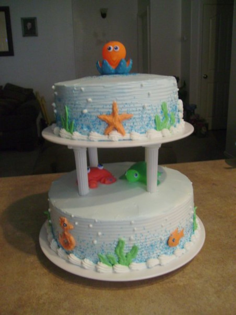 Under The Ocean Baby Shower Cake on Cake Central