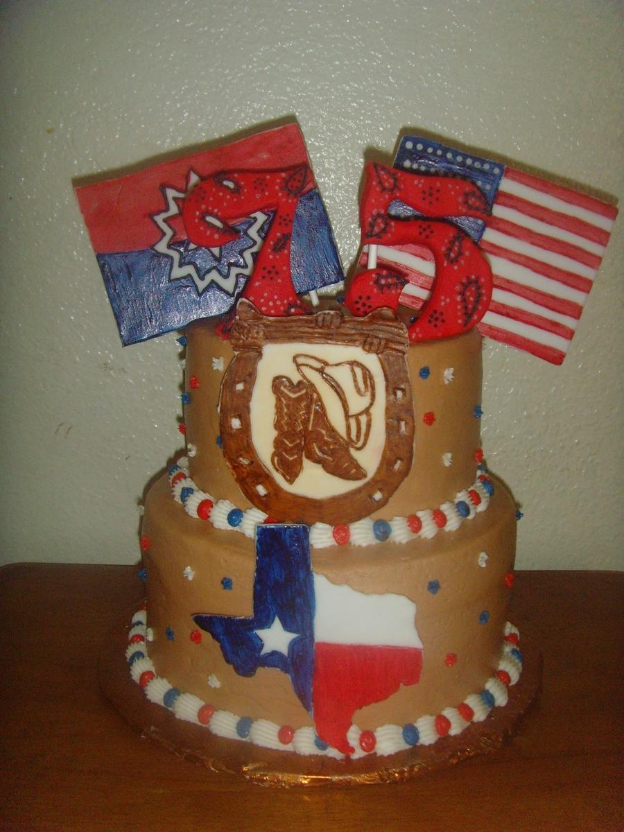 Magnificent Texas Birthday Cake Cakecentral Com Personalised Birthday Cards Veneteletsinfo