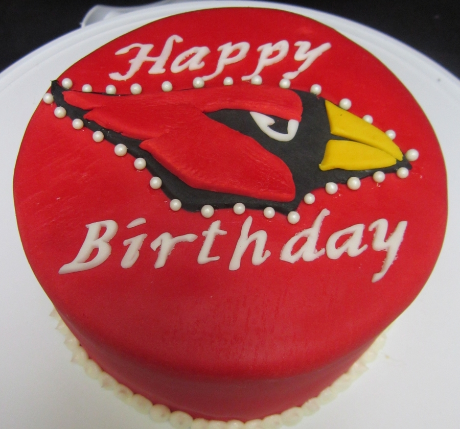 Cardinals Birthday Cake on Cake Central