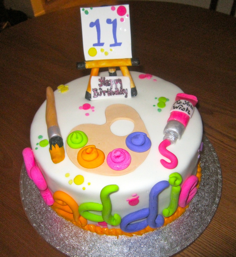 Paint Themed Birthday Cake  on Cake Central