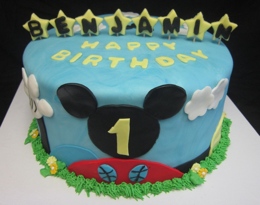 Mickey Mouse Clubhouse 1St Birthday Cake on Cake Central