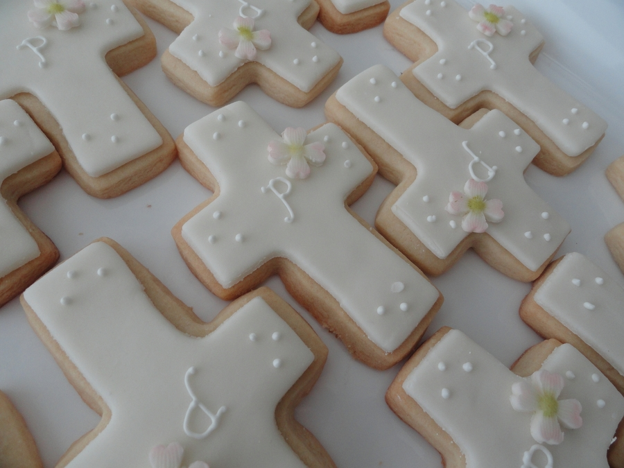 Cross First Communion Cookies on Cake Central