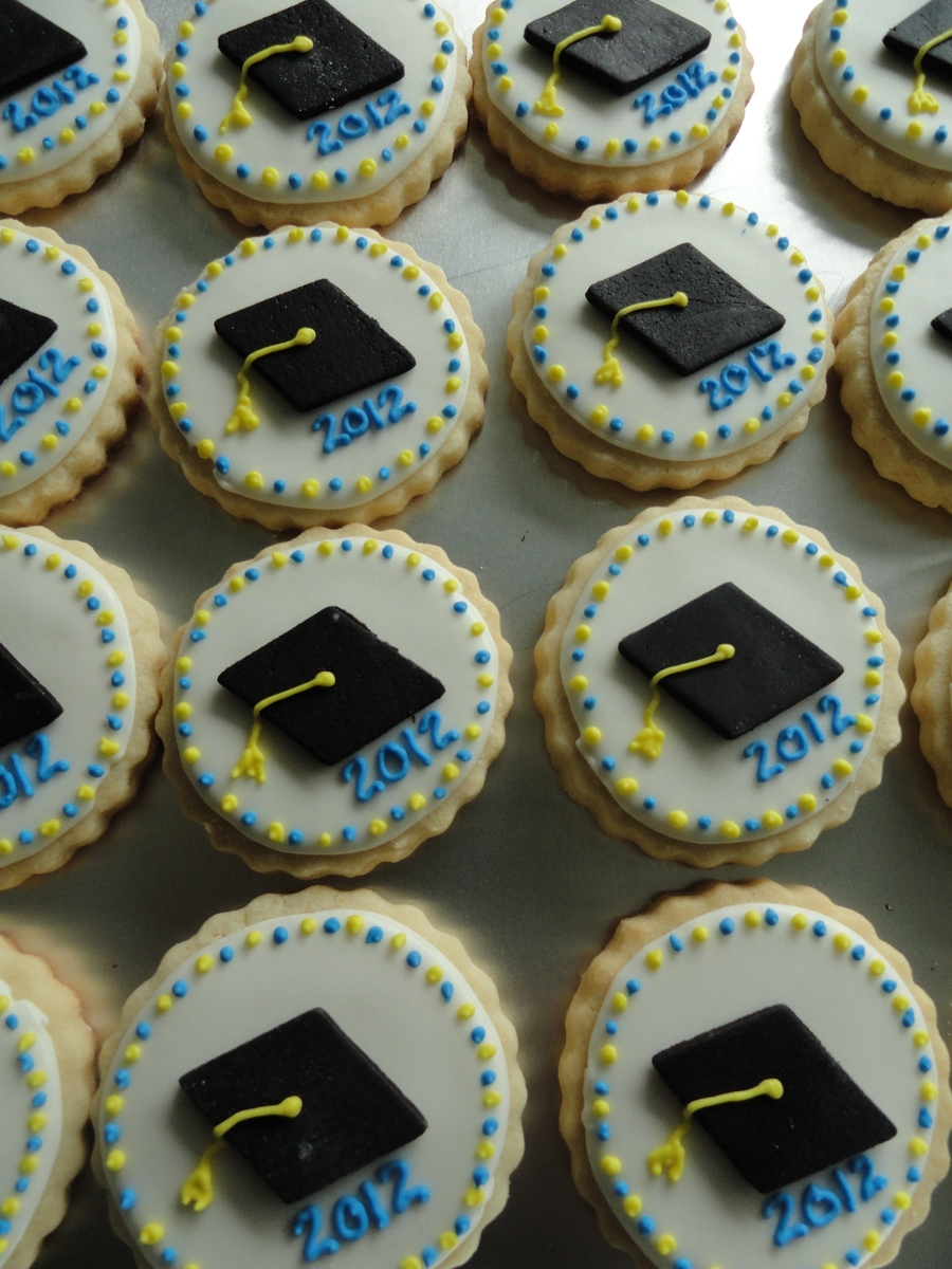 Graduation Cap Cookies on Cake Central