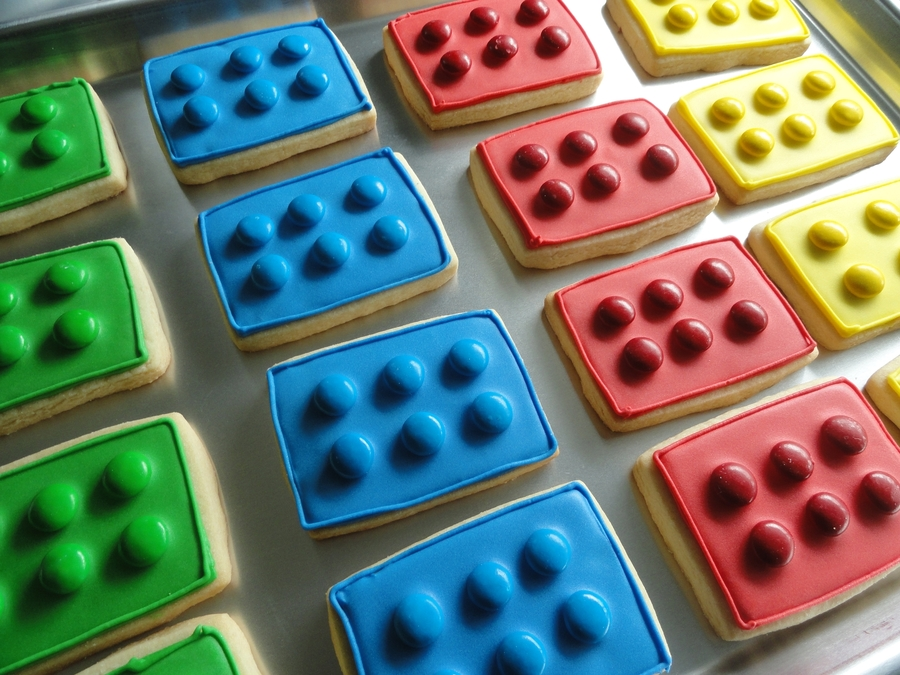 Lego Block Cookies on Cake Central
