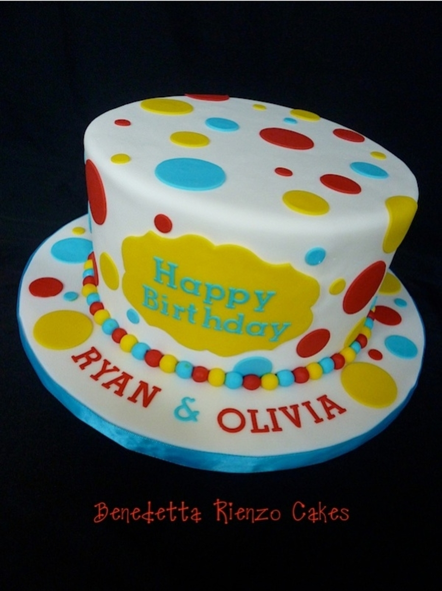 Polka Dot Happy Birthday  on Cake Central