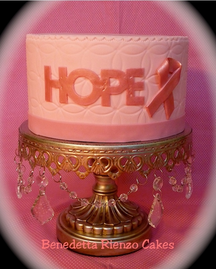 Hope Cake For Breast Cancer Awareness  on Cake Central