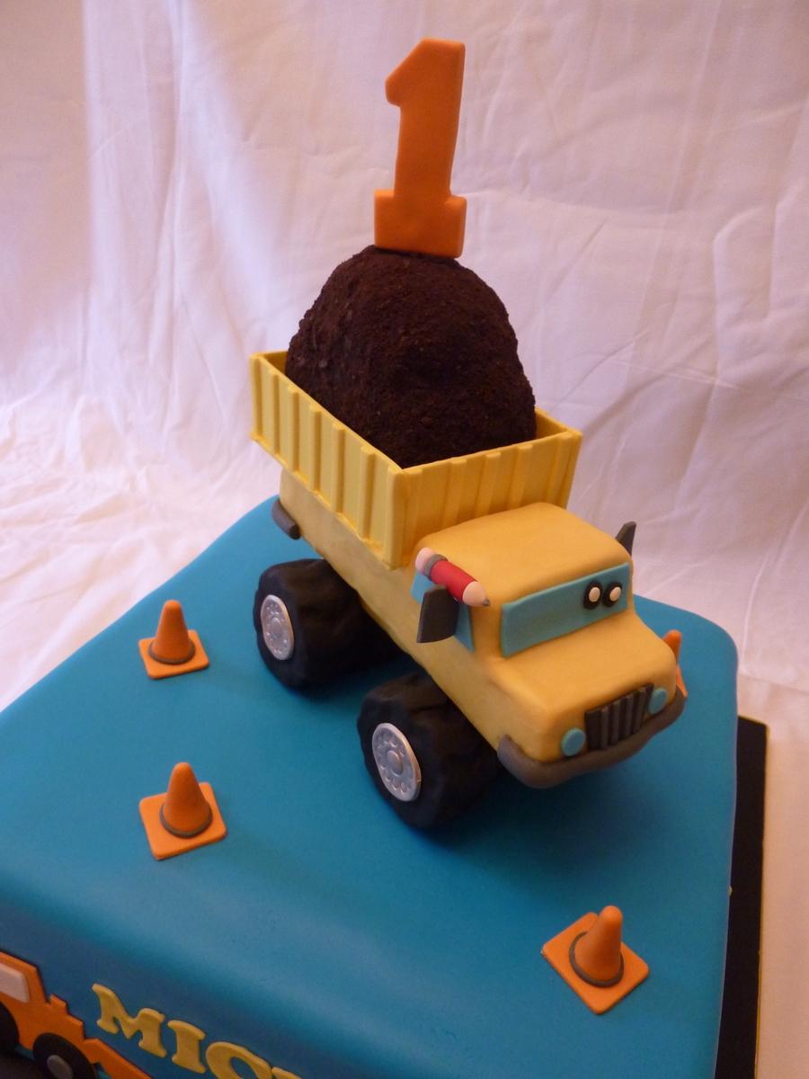 Dump Truck First Birthday - CakeCentral com