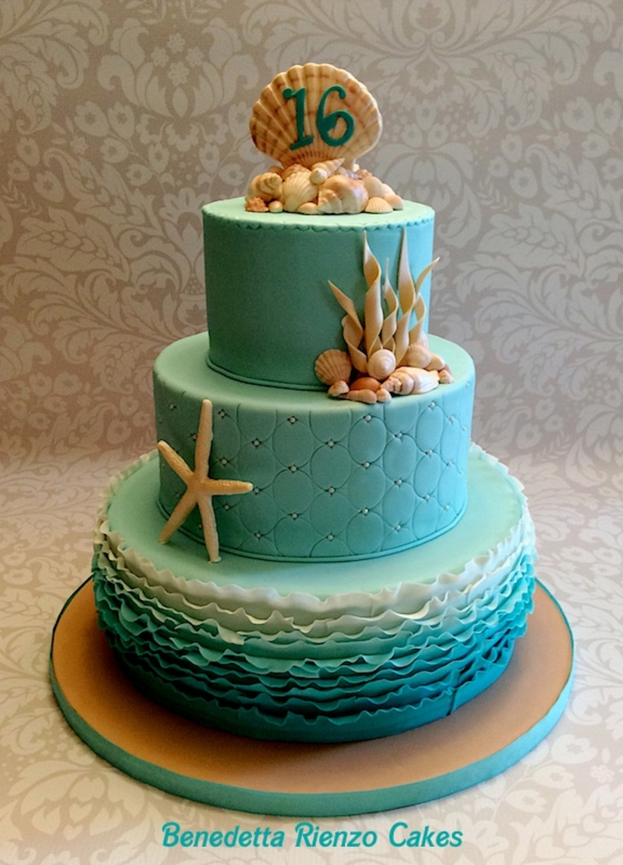 Under The Sea Sweet 16 Cake - CakeCentral.com