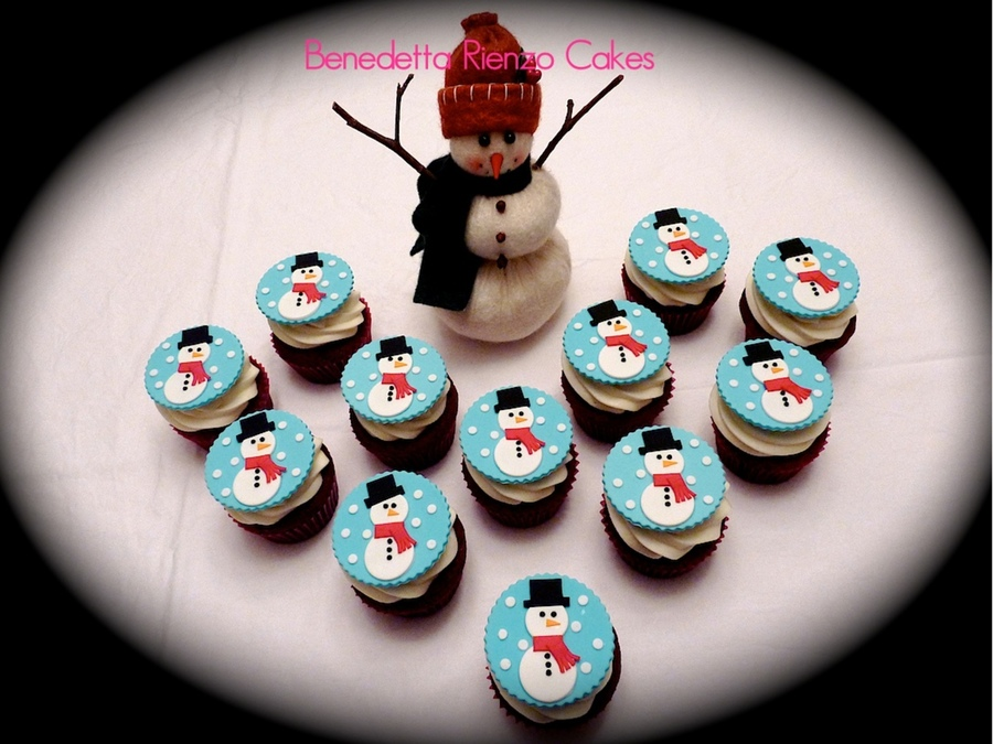 Happy Little Snowmen Cupcakes on Cake Central