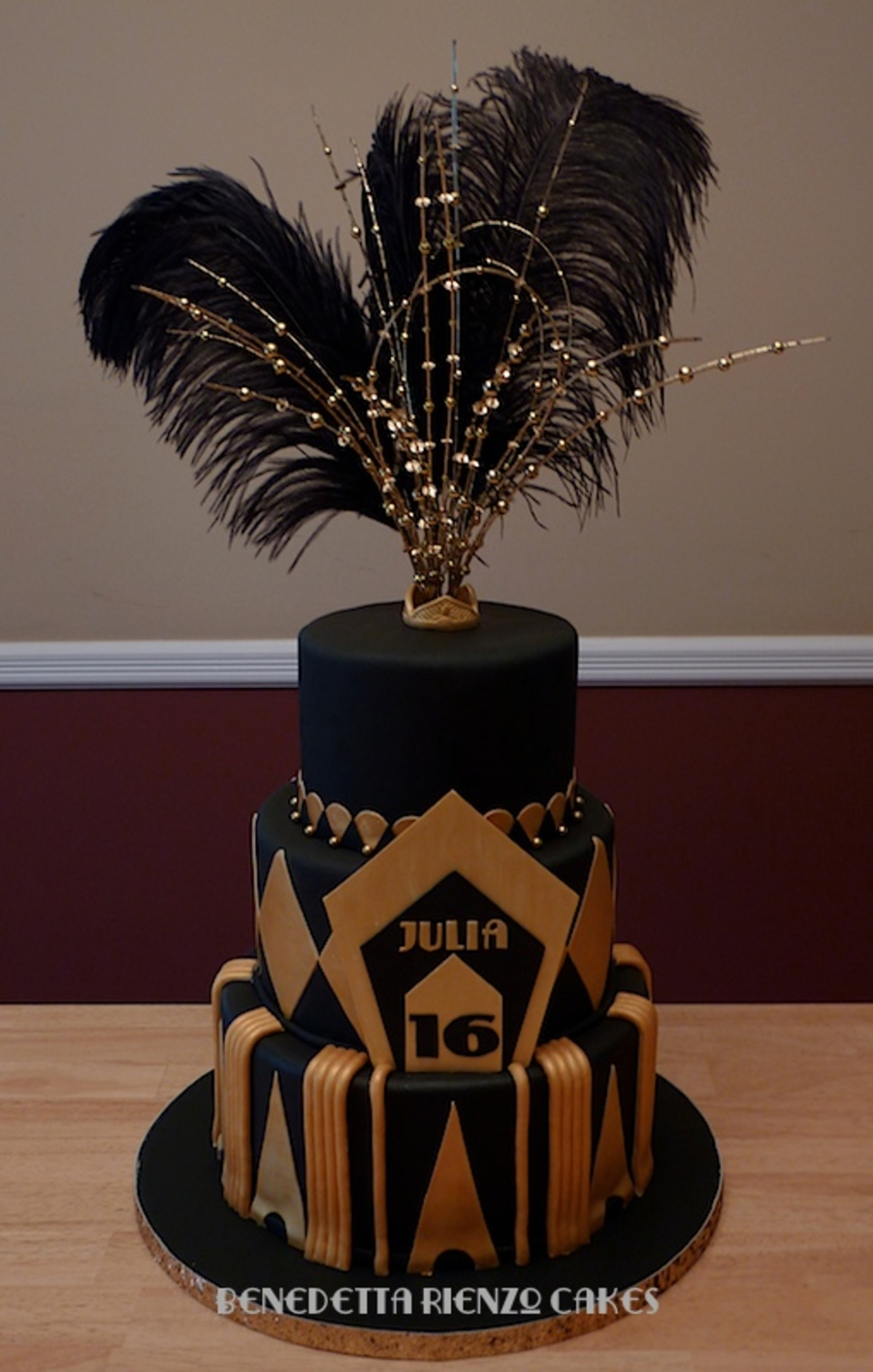Great Gatsby Sweet 16 Cake on Cake Central