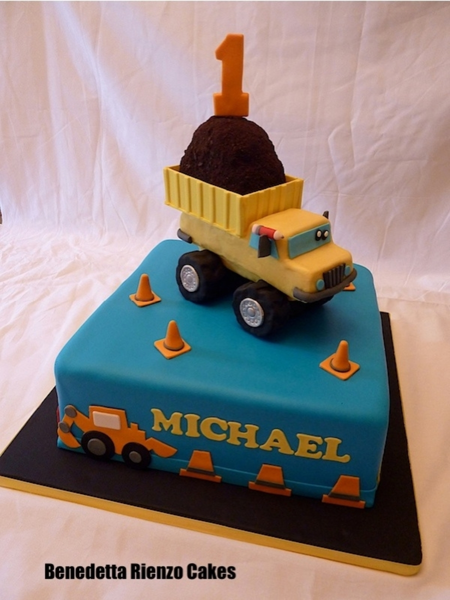 Prime Dump Truck First Birthday Cakecentral Com Personalised Birthday Cards Sponlily Jamesorg