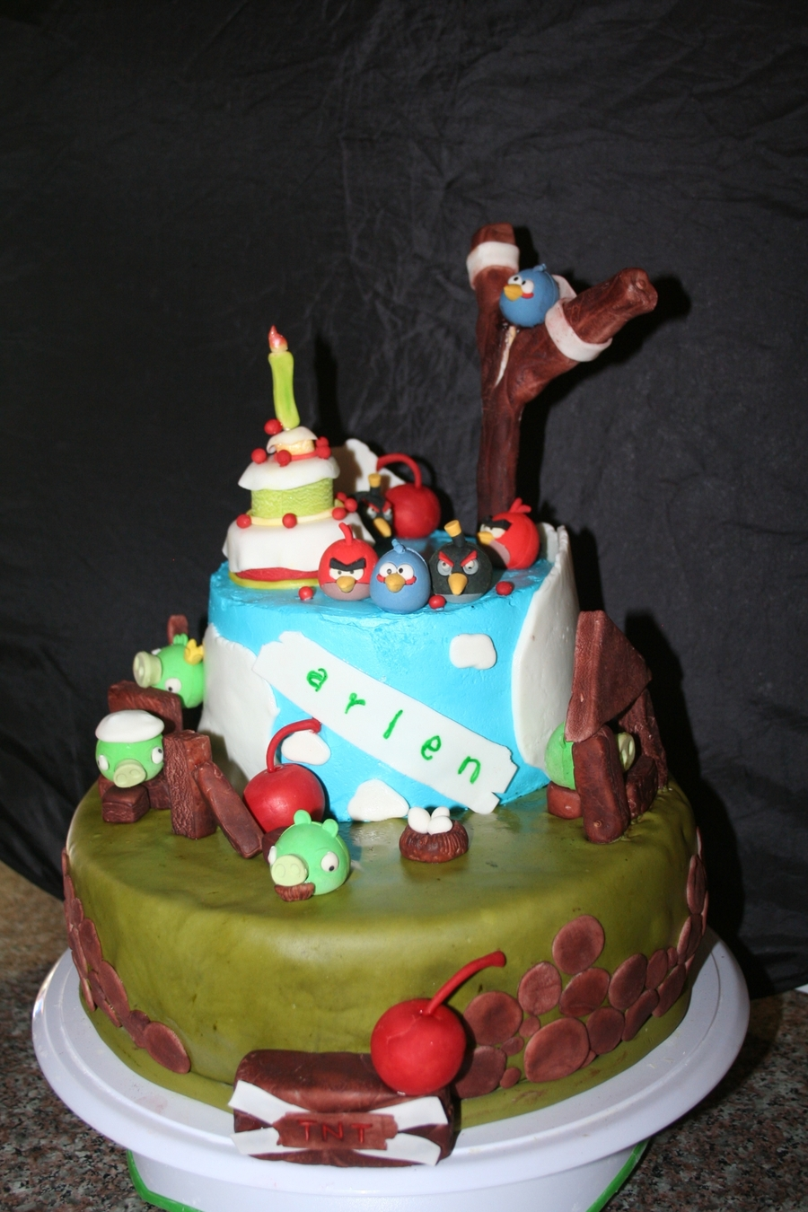 Angry Birds Theme  on Cake Central