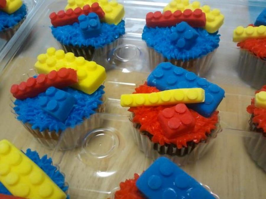Home Made Legos From Fondant Using A Cross Cookie Cutter And A Round Tip on Cake Central
