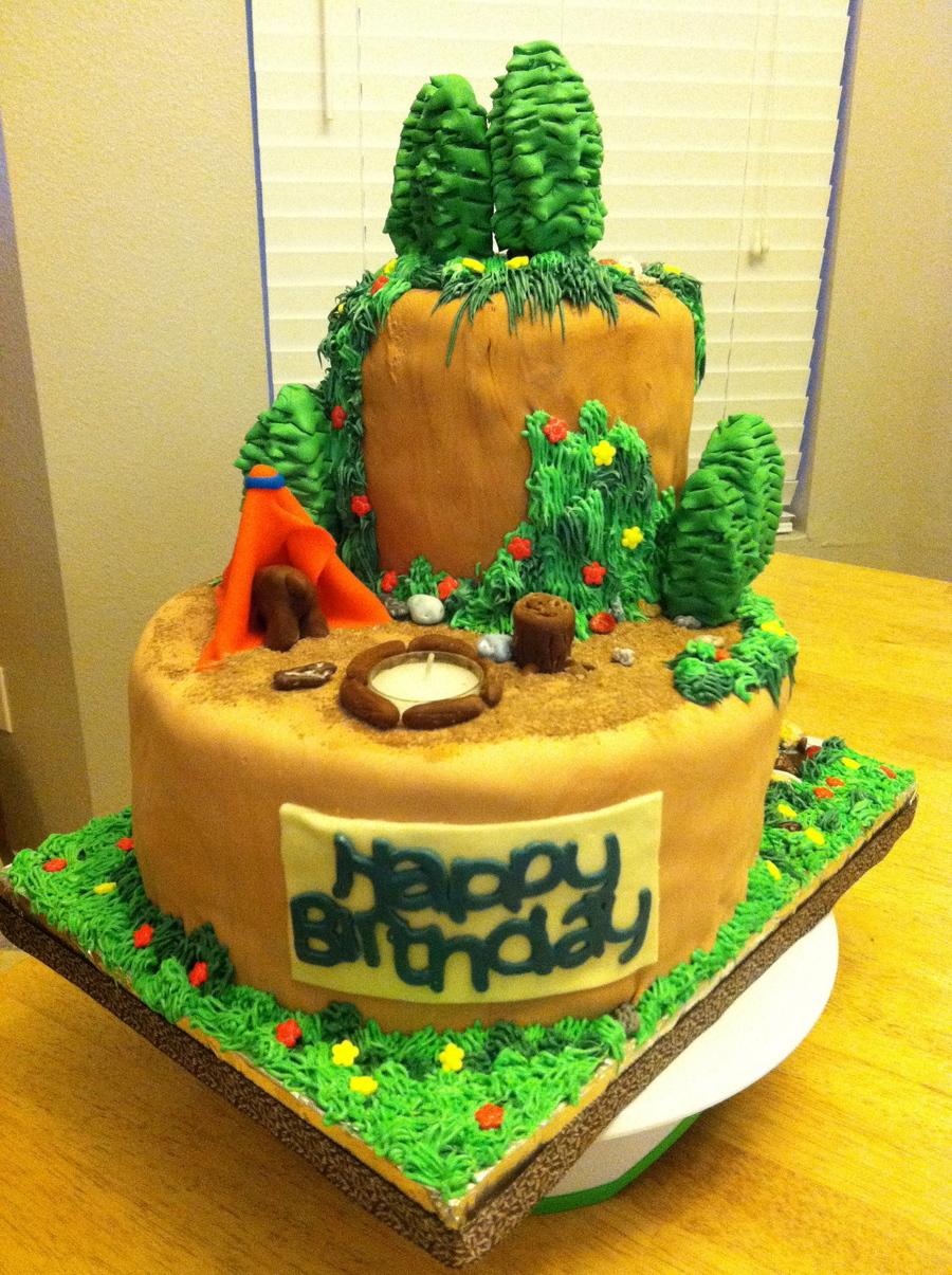 Brilliant Camping Birthday Cake Cakecentral Com Funny Birthday Cards Online Bapapcheapnameinfo