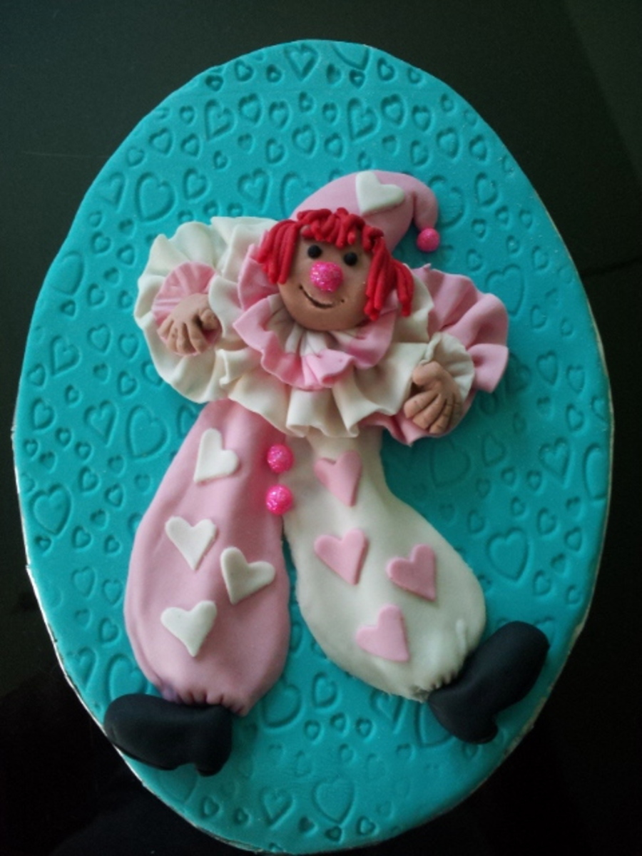 Clown Placard on Cake Central