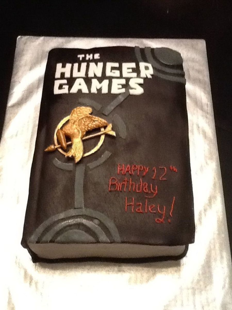 The Hunger Games Birthday Cake Replica Of Book One Cakecentral