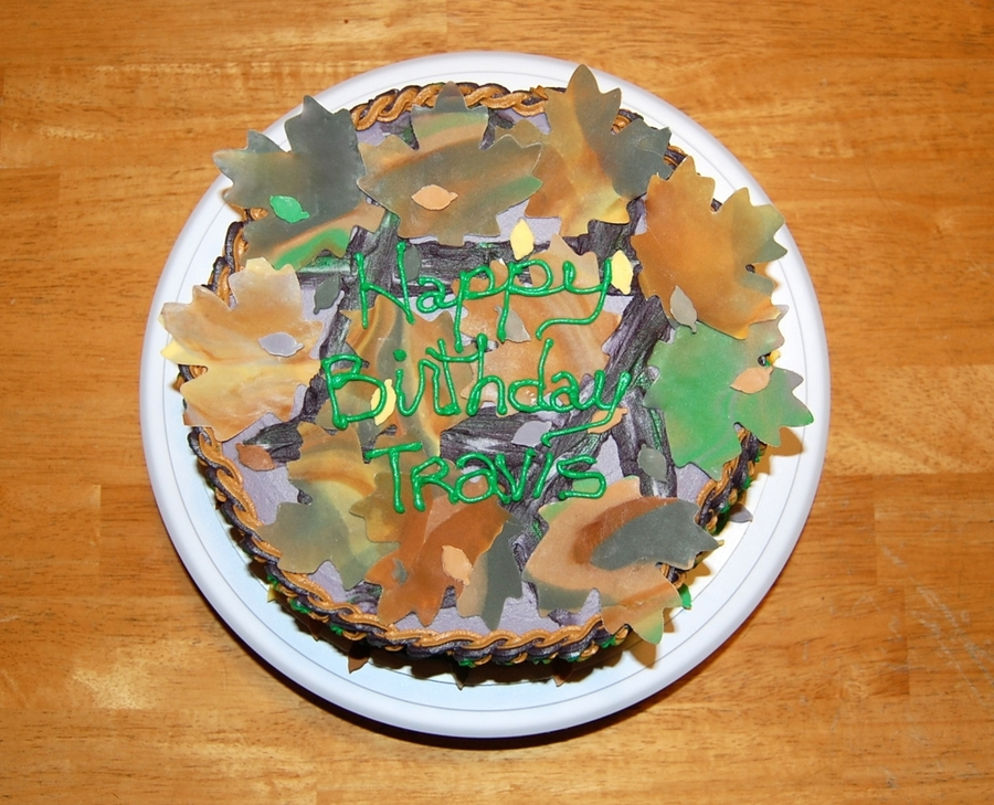 Mossy Oak Camouflage Birthday Cake Cakecentral