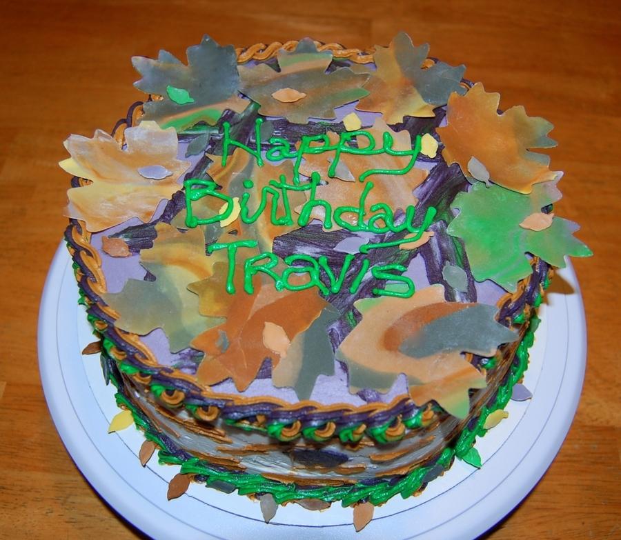 Mossy Oak Camouflage Birthday Cake CakeCentralcom